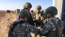 Türk ve Rus askerinden  12. kara devriyesi
