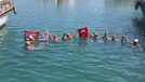 Anamur'dan KKTC'ye kadar yüzerek geldiler