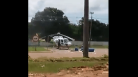 Brezilya'da helikoptere kamyon çarptı