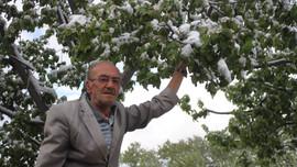 Konya'ya mayıs ayında kar yağdı