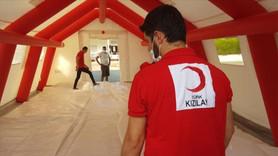 Türk Kızılaydan KKTC'de salgın çadırı desteği