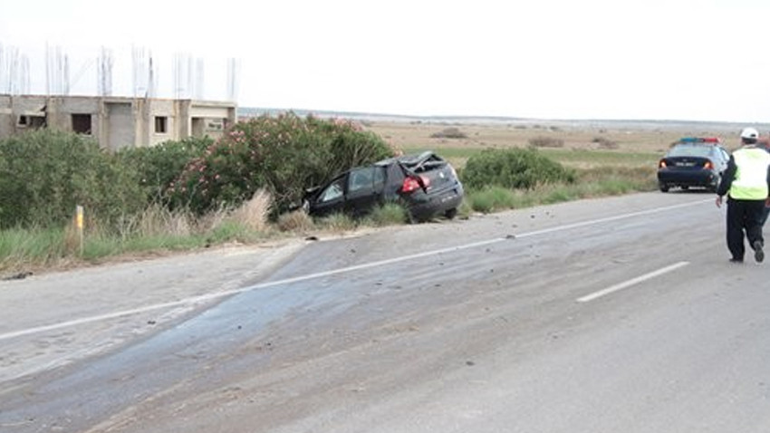 Lefkoşa-Moğusa Anayolu'nda yine kaza!