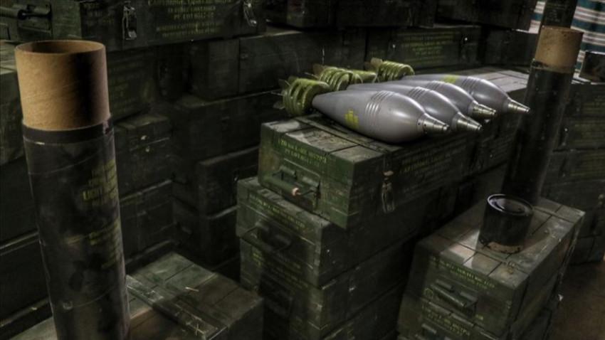 YPG'nin silah depolarında ABD havan topları