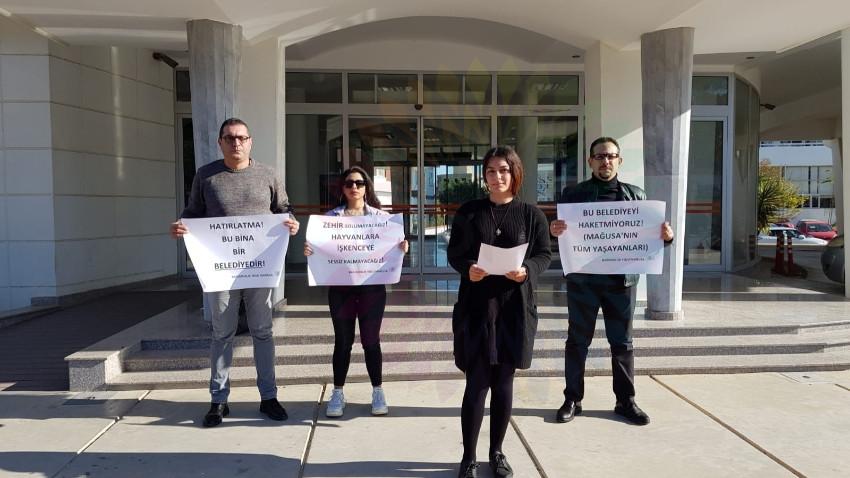 Gazimağusa Belediyesi protesto edildi