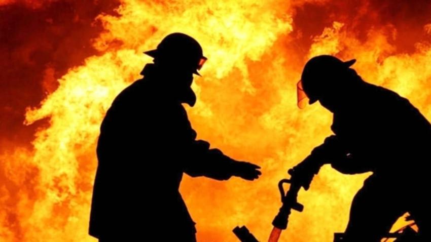 Mehmetçik'de çıkan yangına müdahale edildi