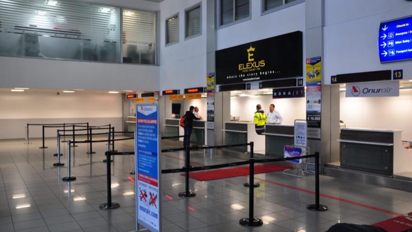 Ercan Havalimanı'nda çalışmalar devam ediyor