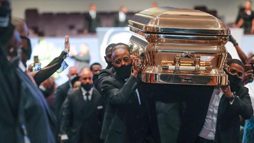 Polis şiddetinde ölen Floyd toprağa verildi