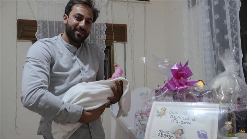 Filistinli aile kızlarına Ayasofya adını verdi