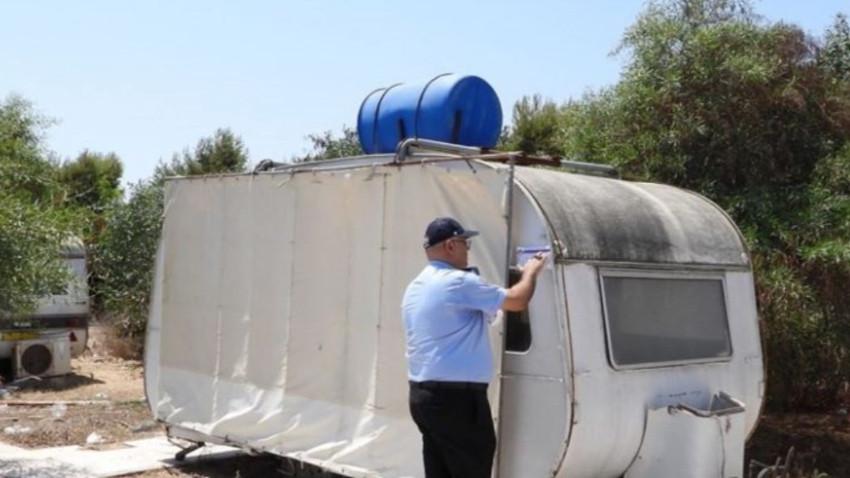İskele Belediyesi karavanları kaldırıyor