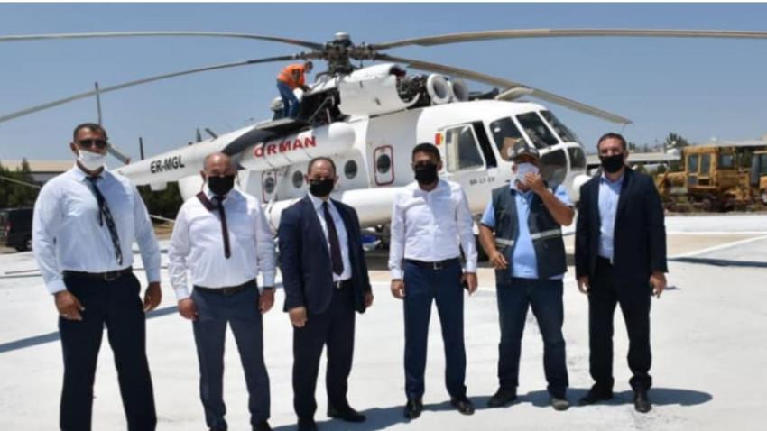 Yangın Helikopteri KKTC'de konumlandırıldı