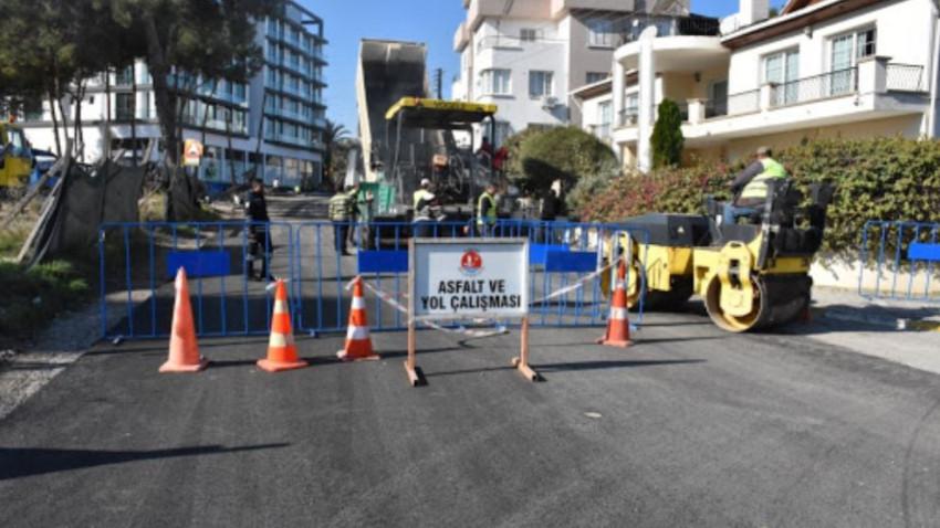 Girne Belediyesi'nden asfaltlama çalışması