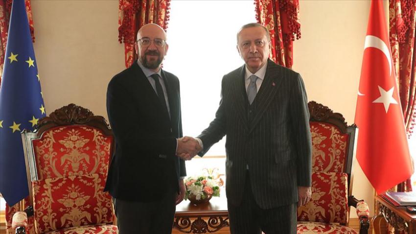 Erdoğan AB Konseyi Başkanı Michel ile görüştü