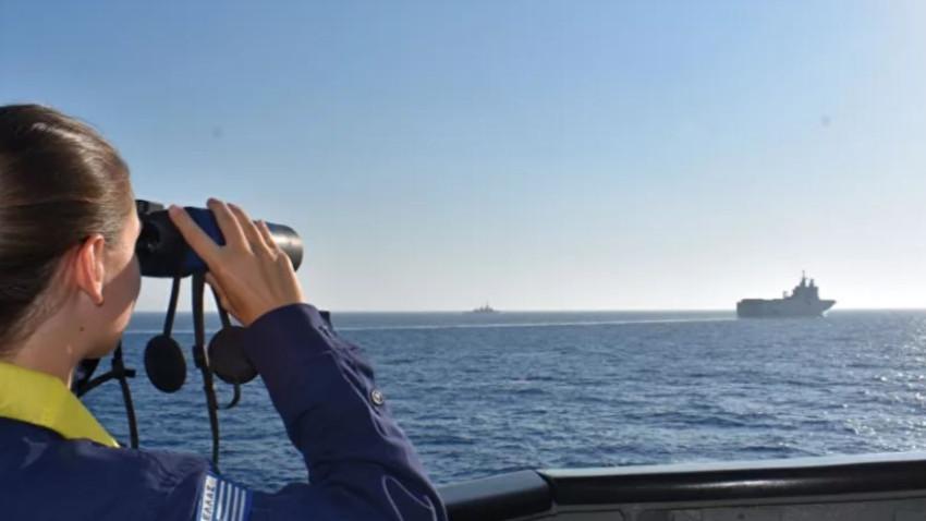 Doğu Akdeniz'de atış eğitimleri! Donanmadan Yunan'a gözdağı