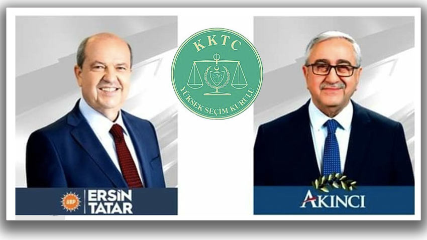 KKTC Cumhurbaşkanlığı ikinci tur oy pusulasında ilk sırada kim var?