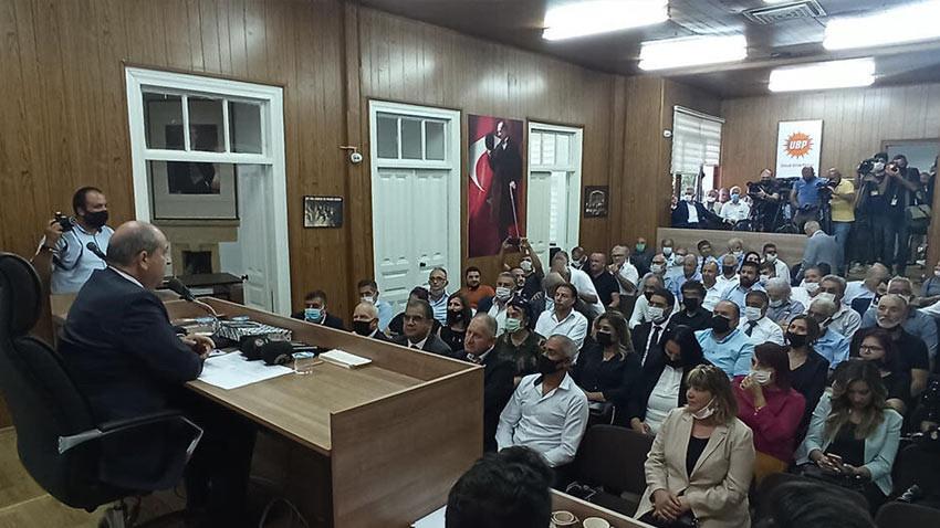 UBP Kurultayı tarihi belirlendi. Ersin Tatar son kez UBP lideri olarak konuştu