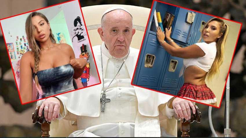 Papa Instagram'da çıplak modeli beğendi ortalık karıştı!