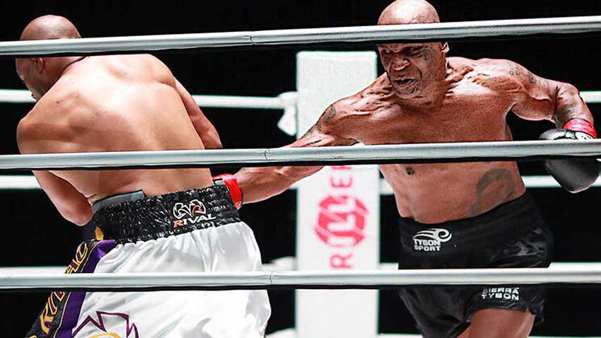 Dünya 54 yaşındaki Mike Tyson'ın ringlere dönüşünü izledi