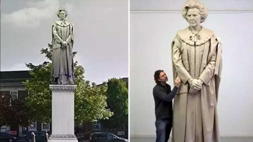 İngiltere karıştı! Thatcher heykeli yumurta atma yarışması ile açılacak