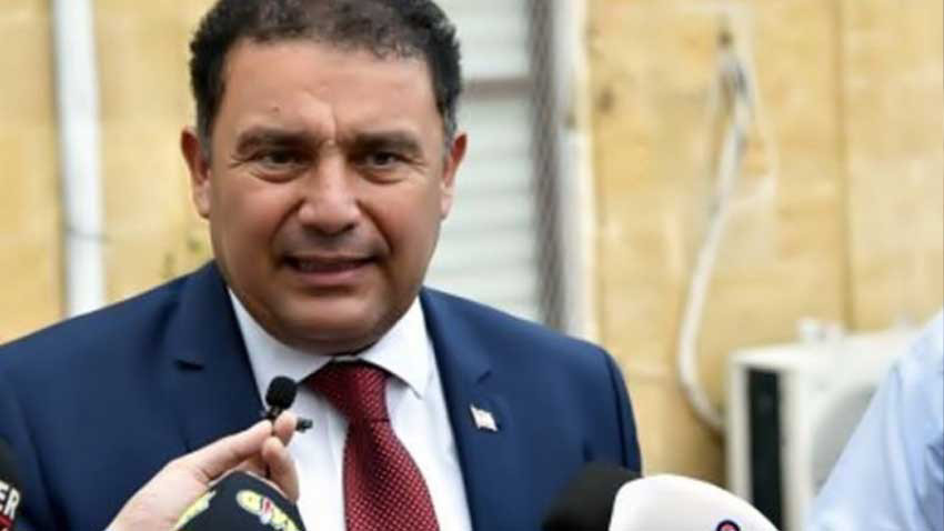 UBP-DP-YDP hükümetinin kabine listesi Cumhurbaşkanına sunuluyor