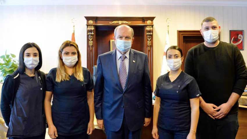 Cumhurbaşkanı Tatar ve personele PCR testi yapıldı