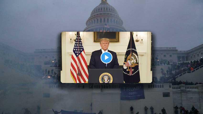 Trump'ın sosyal medya engeli kalktı ve konuştu: Kongre binasını basanlar cezalandırılacak