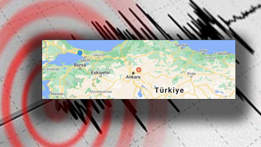 Ankara'da deprem! 4.5 büyüklüğündeki deprem uyutmadı