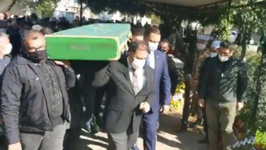 Başbakan Saner vefat eden kayınpederini son yolculuğuna uğurladı