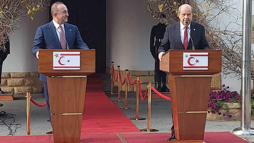 """5+BM görüşmesinde Türk başlığı: """"Federasyon değil Kıbrıs'ta iki devlet resmileşmeli"""""""