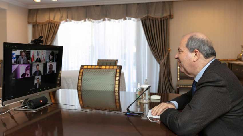 """Cumhurbaşkanı Tatar kısa kesti: """"Kıbrıs'ta çözüm net! İki devlet"""""""