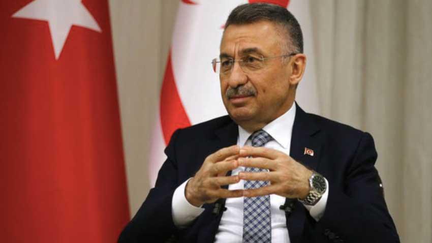 """Fuat Oktay KKTC'den dünyaya mesaj verdi """"Kıbrıs'ta iki ayrı devleti konuşabiliriz"""""""