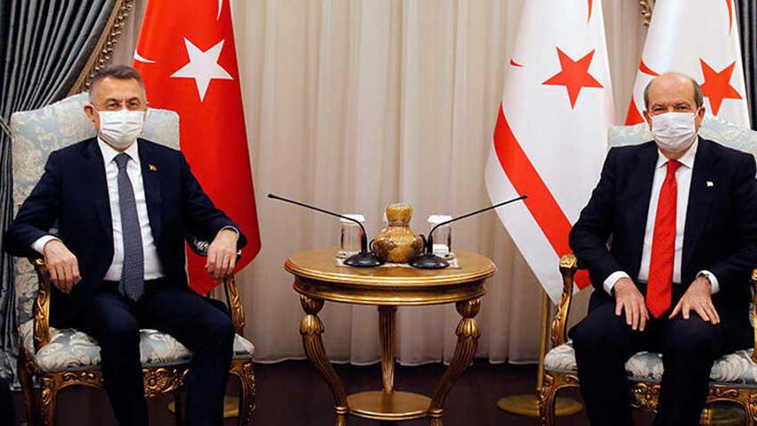 """Ersin Tatar Fuat Oktay'ı kabul etti """"KKTC'yi yalnız bırakmamızı kimse beklemesin"""""""