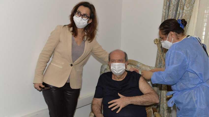 KKTC Devlet yönetiminde ikinci doz aşılama tamamlandı