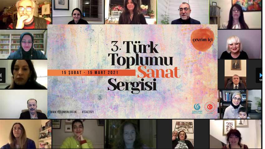 İngiltere'de Türk Toplumu Sanat Sergisi... Bu yıl üçüncüsü açıldı