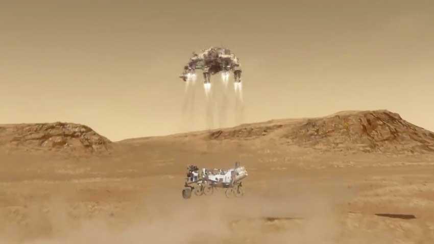 Perseverance Mars yüzeyine başarıyla indi ilk fotoğraflar geldi