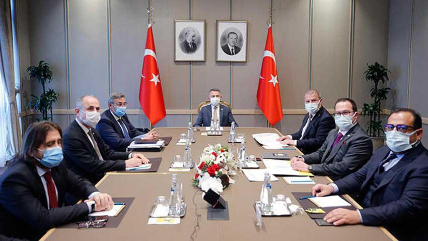 KKTC Ekonomik Örgütler Platformu Türkiye'de... Fuat Oktay ile görüştüler