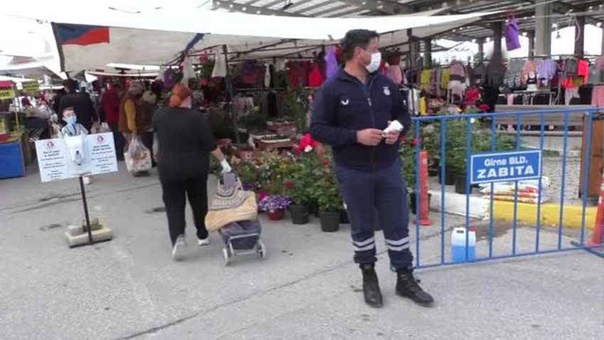KKTC'de halk pazarları da açıldı... 40 gün sonra yeniden tezgahlar kuruldu