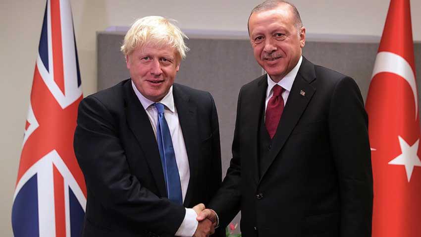 Cumhurbaşkanı Erdoğan ve Boris Johnson iki devletli çözüm için görüştü!