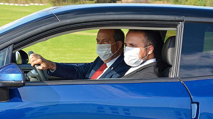 Cumhurbaşkanı test etti! KKTC'nin ilk yerli otomobili GÜNSEL B9