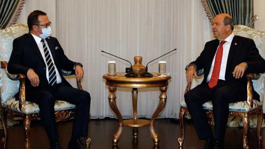 CumhurbaşkanıTatar KTTO Başkanı ile görüştü