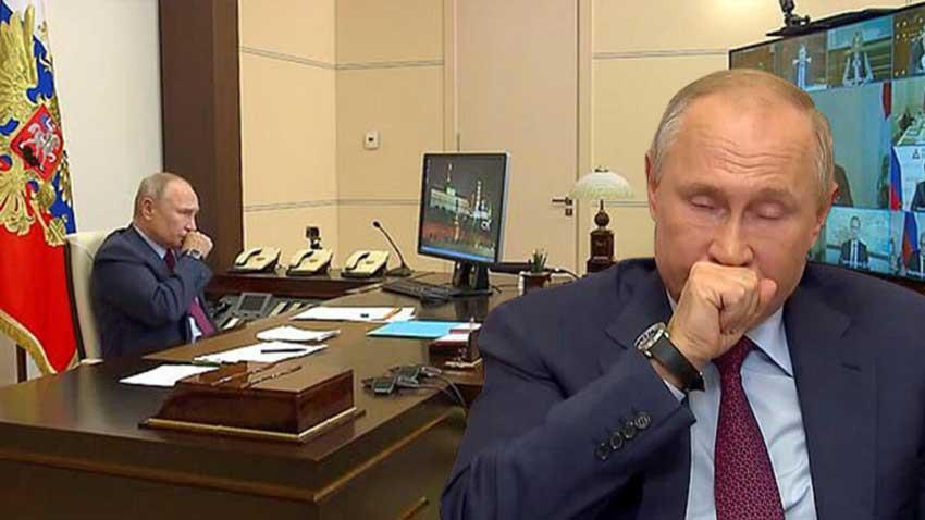 Putin koronavirüse mi yakalandı? Öksürükleri Rusya'da panik yarattı!