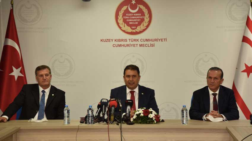 UBP-YDP-DP hükümet protokolü imzalandı! Kim hangi bakanlığı aldı? Başbakan kim?