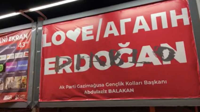 Love Erdoğan afişine 'şeytan' yazısını kim yazdı? Polis soruşturma başlattı
